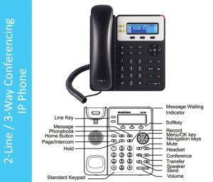 2-Line 3-Way Conferencing IP Phone Hammer Solutions Inc