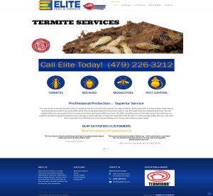 Elite Pest and Termite Hammer Solutions Inc Website Design Fort Smith Arkansas