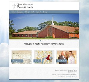 Unity Missionary Baptist Church Hammer Solutions Inc Website Design Fort Smith Arkansas