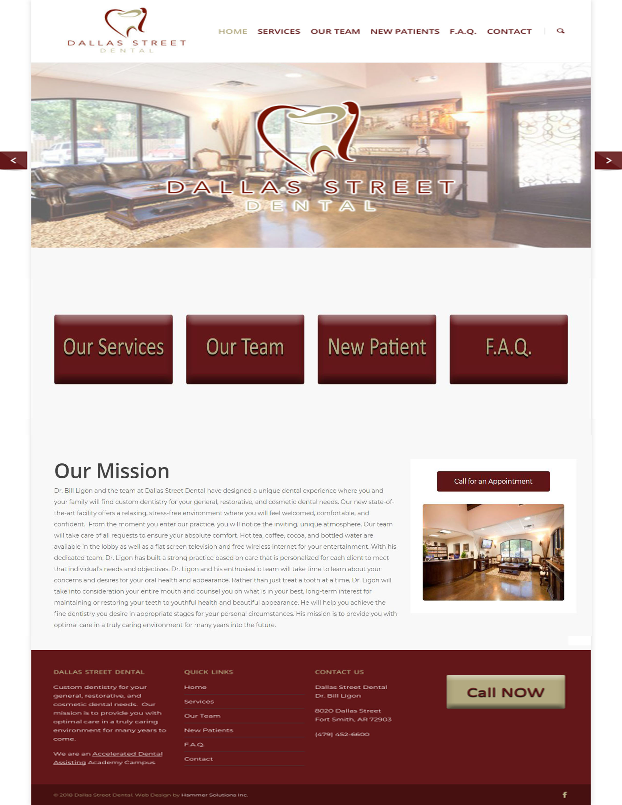Dallas Street Dental Fort Smith Arkansas Hammer Solutions Website Design Web Design Web Development
