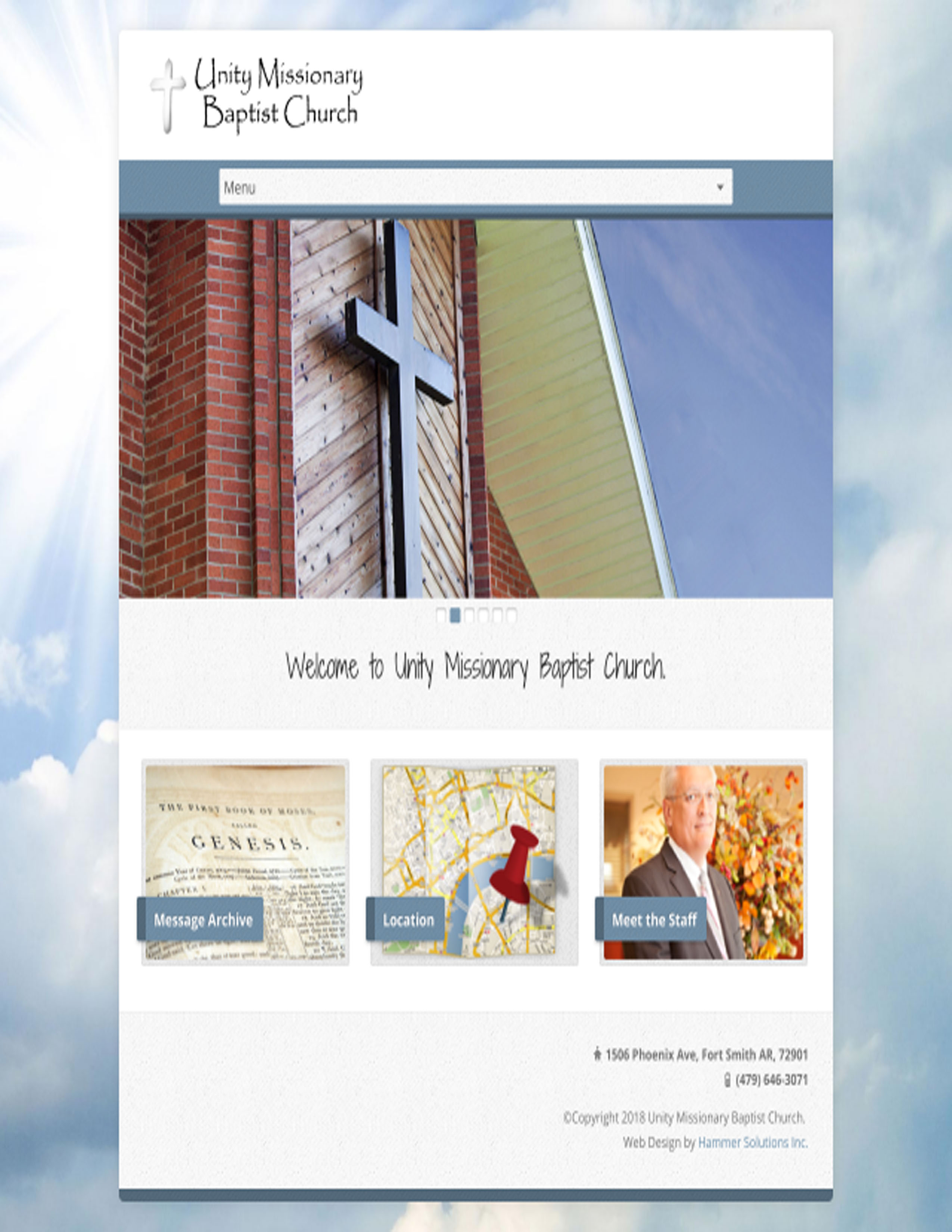 Unity Missionary Baptist Church Fort Smith Arkansas Hammer Solutions Website Design Web Design Web Development
